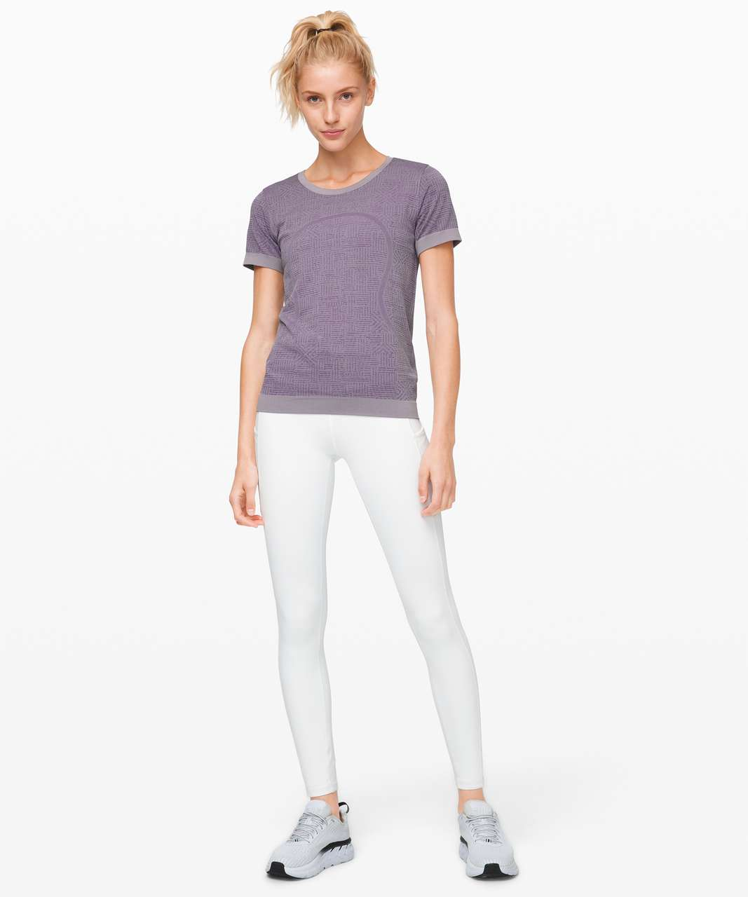 Lululemon Swiftly Relaxed Short Sleeve - Purple Quartz / Violet Grey