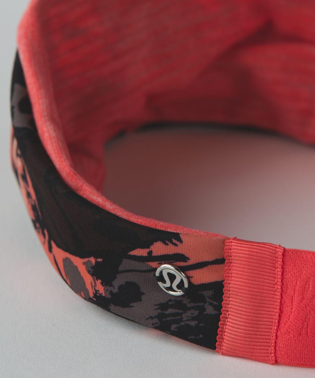 Lululemon Fringe Fighter Headband - Paint Storm Espresso Multi / Heathered Cape Red
