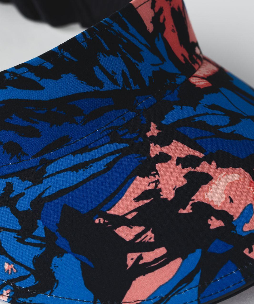 Lululemon Fast Paced Run Visor - Paint Storm Harbor Blue Multi / Black