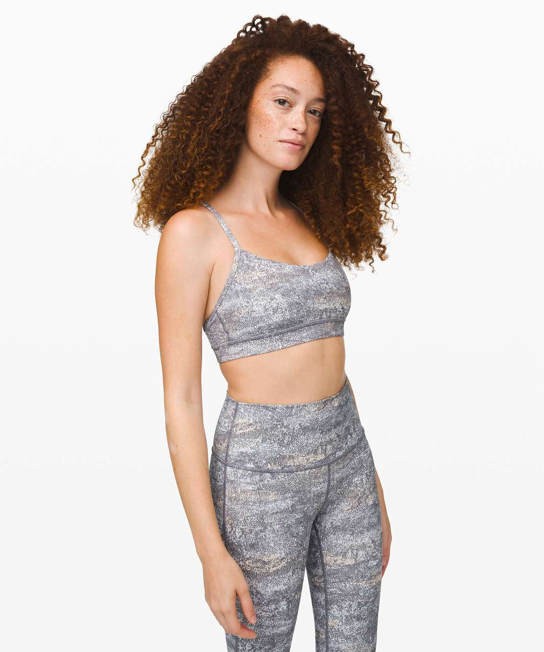 Lululemon Flow Y Bra *Nulu - Frozen Vista Alpine White Multi