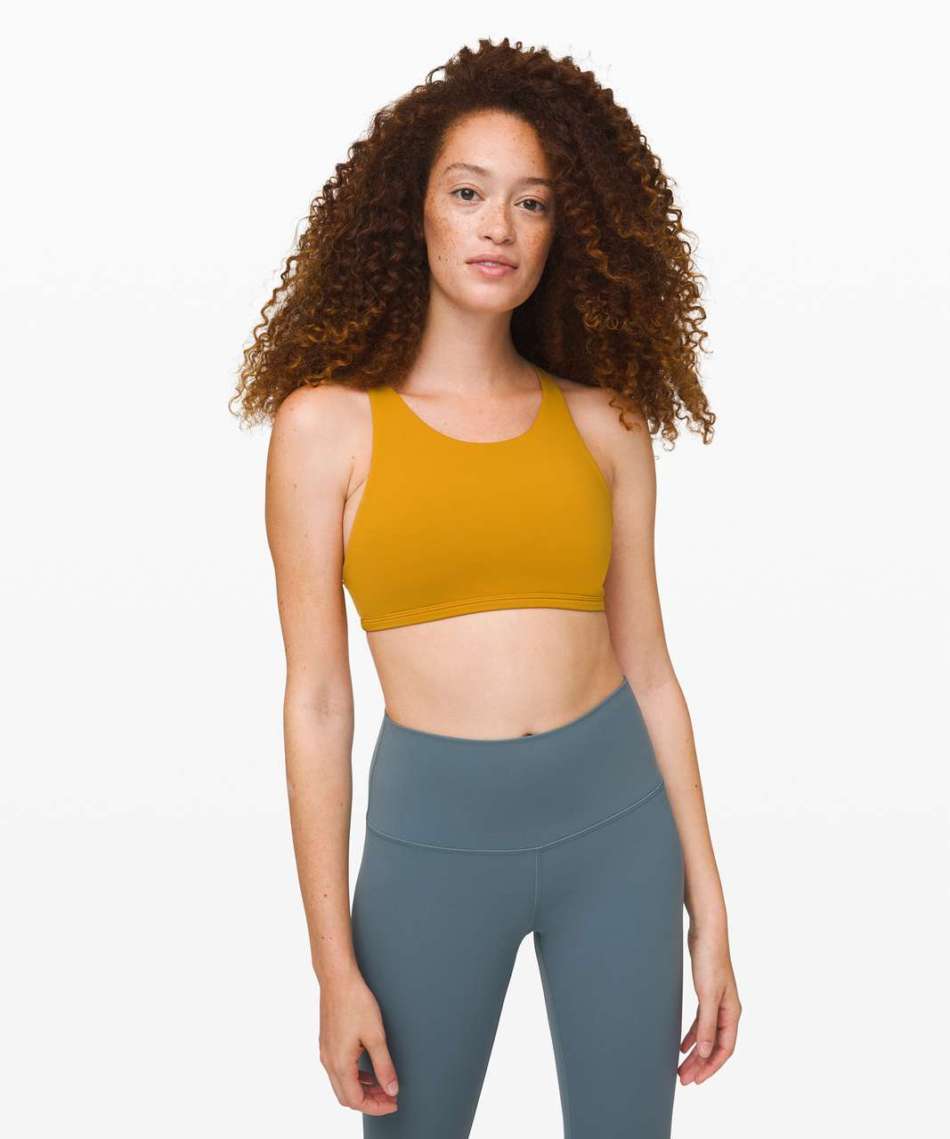 Lululemon Free To Be Bra *Wild High Neck - Fools Gold