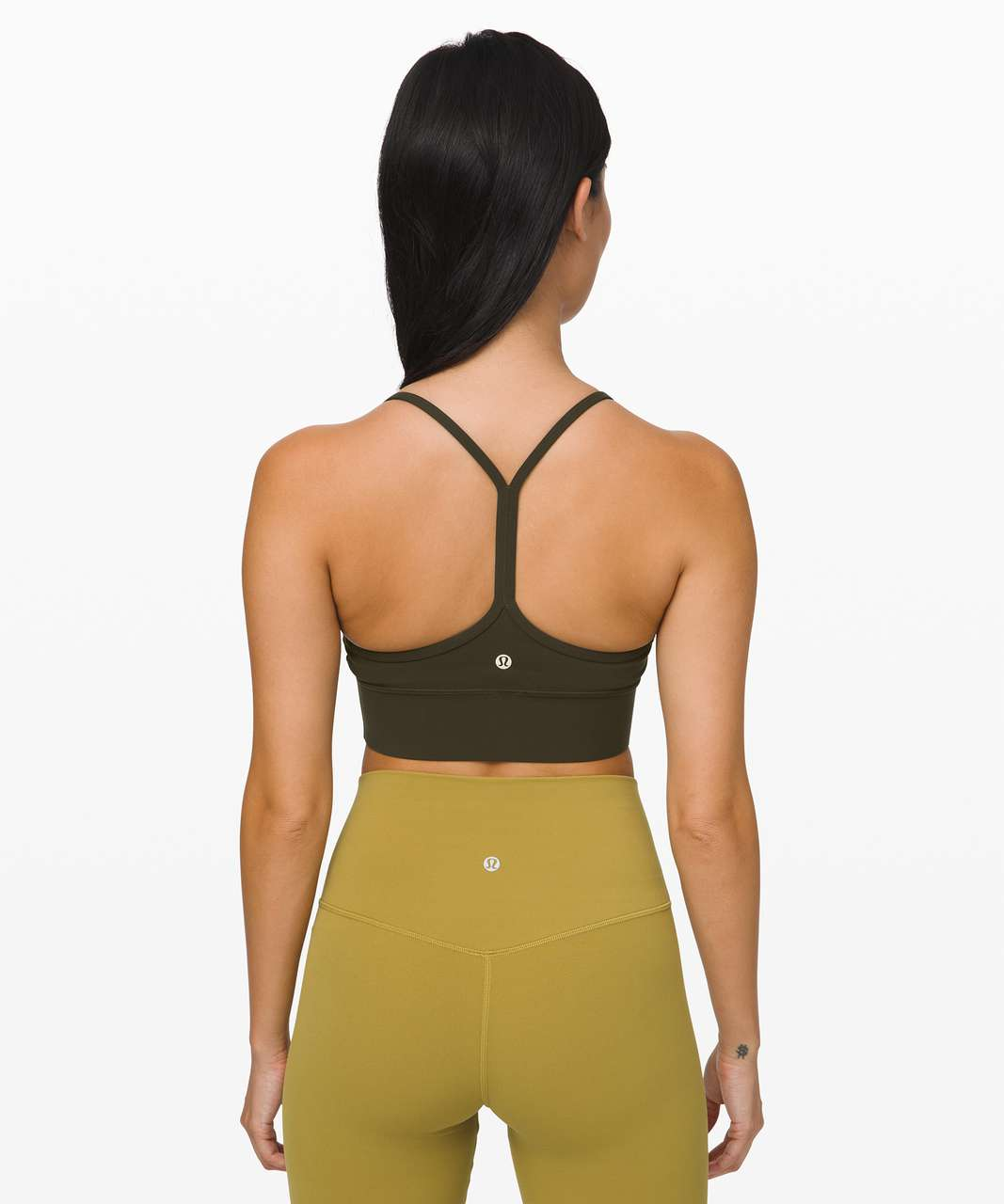 Lululemon Flow Y Bra *Nulu Long Line - Dark Olive