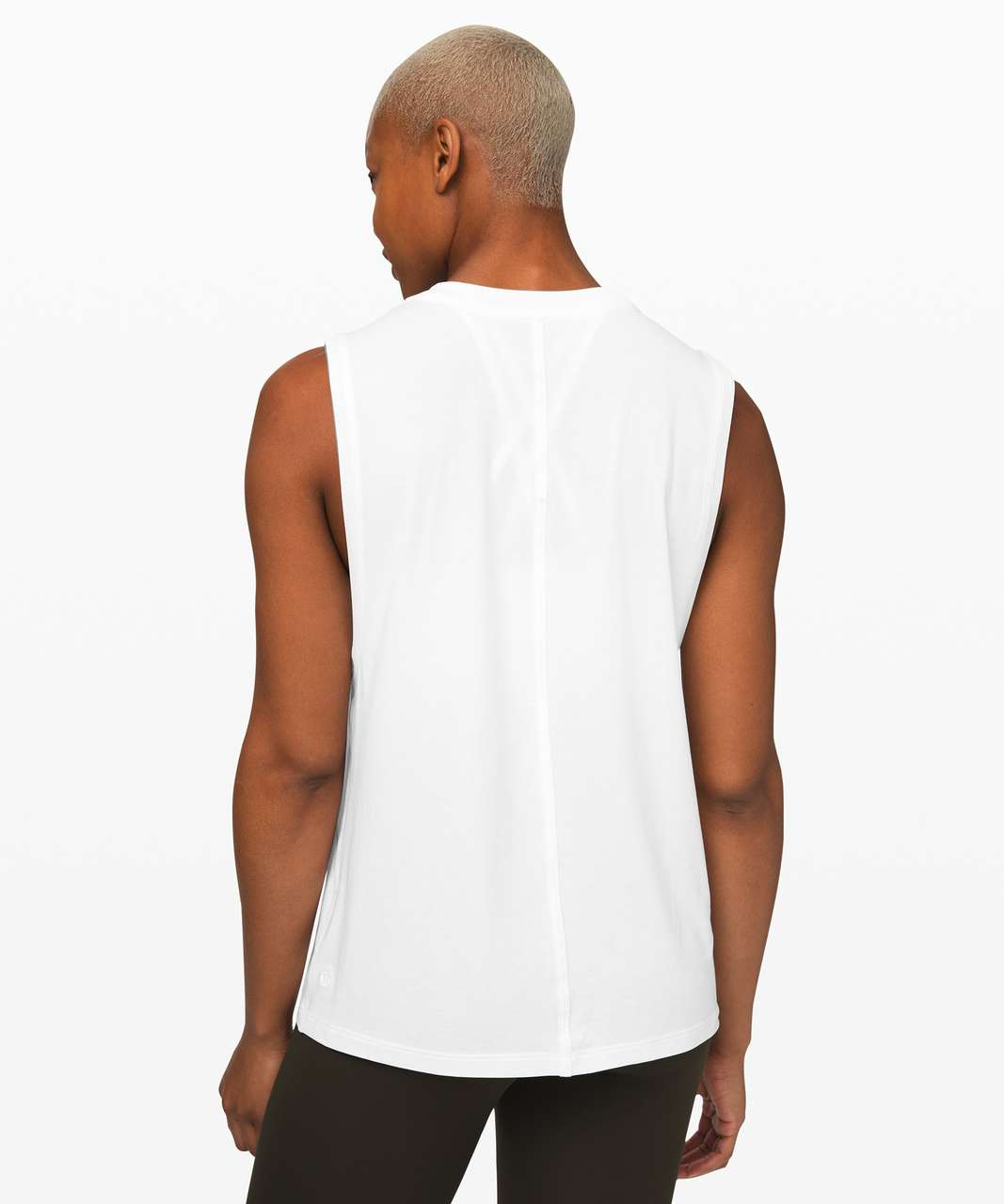 Lululemon All Yours Boyfriend Tank - White