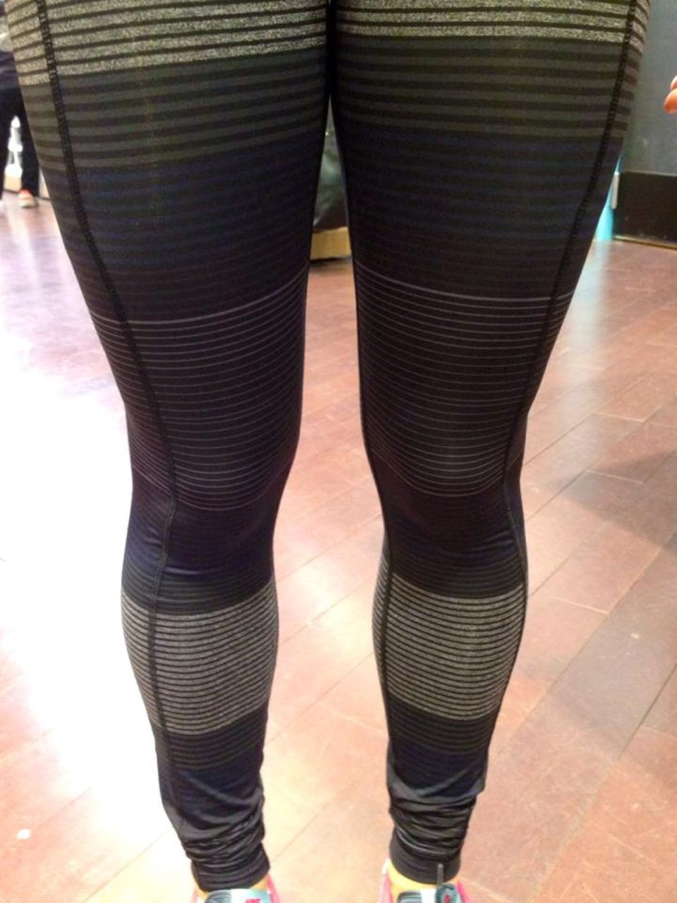 Lululemon Speed Tight II - Om Stripe Black Multi / Black