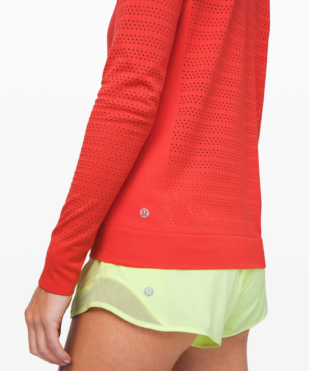 Lululemon Breeze By Long Sleeve *Squad - Thermal Red / Thermal Red