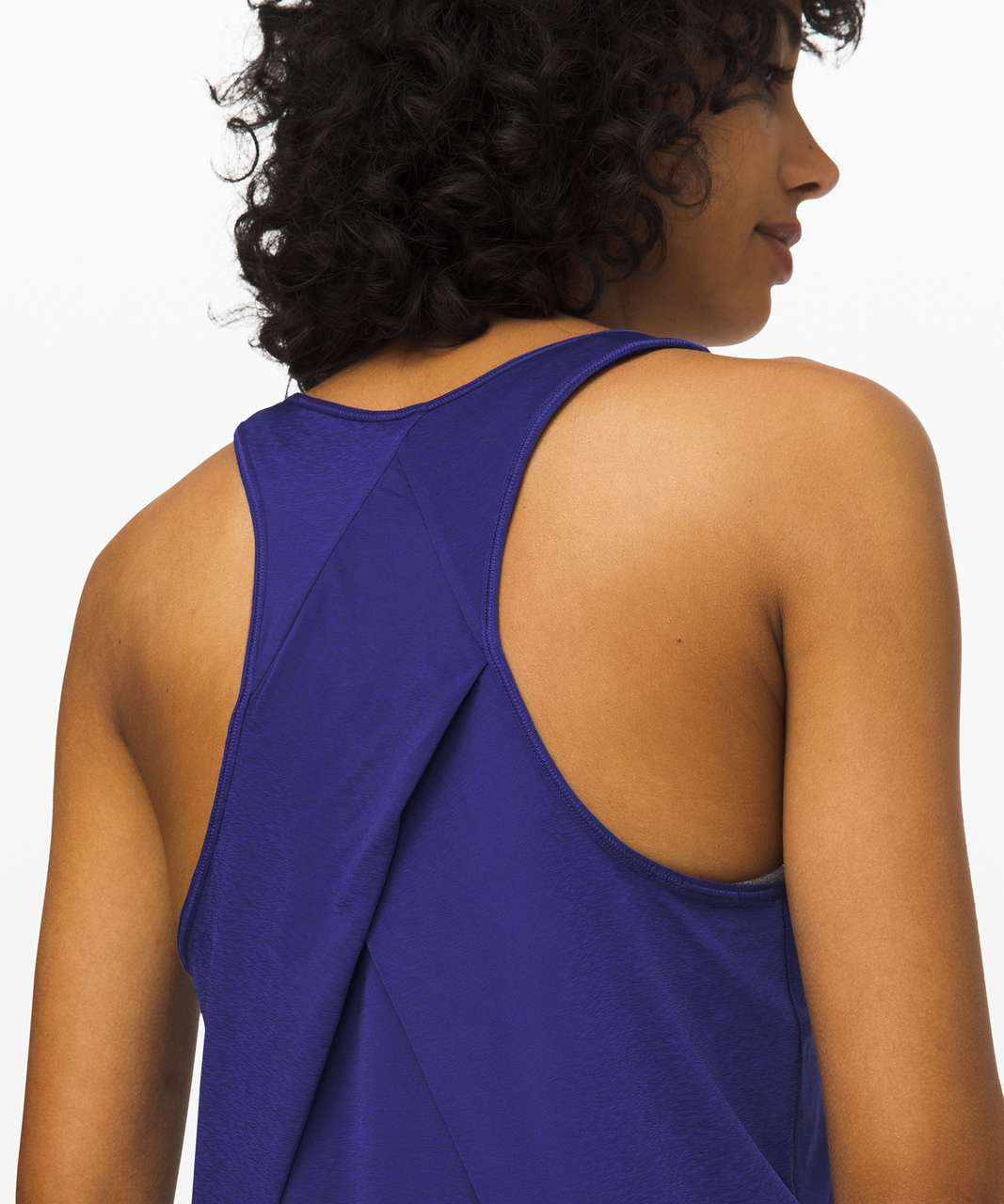Lululemon Essential Tank *Pleated - Larkspur