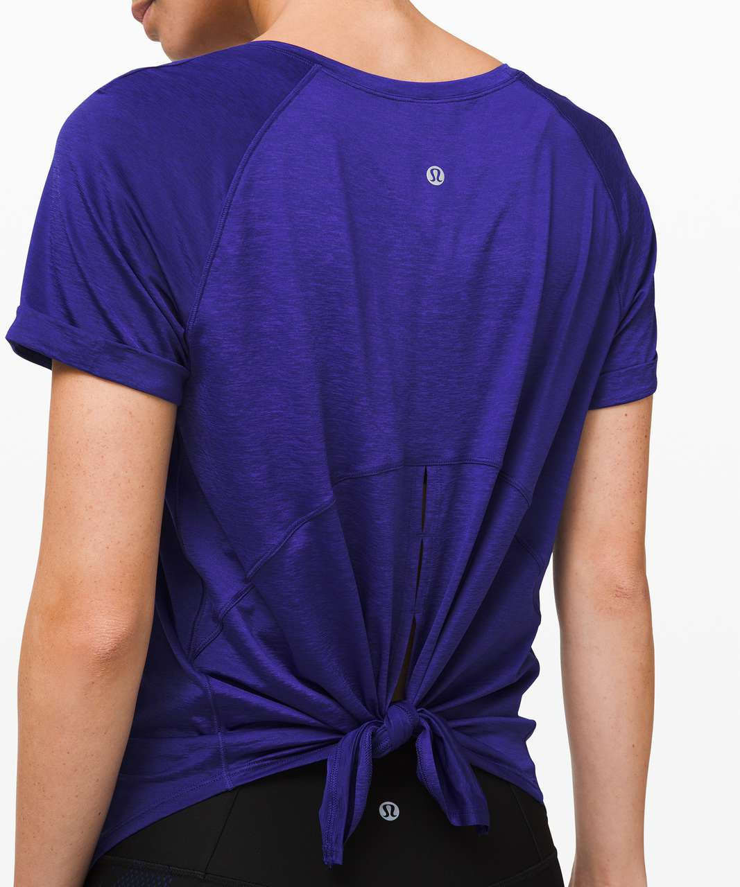 Lululemon Open Up Tie Back Tee - Larkspur
