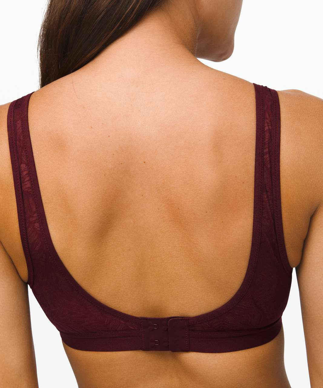 Lululemon Shadow Mesh Bra *Leaf - Garnet / Moss Rose