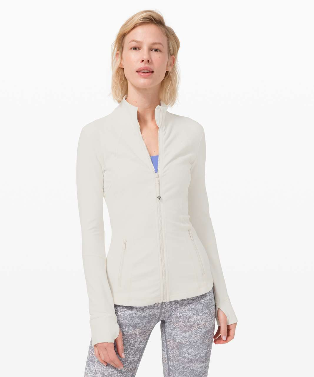 Lululemon Define Jacket *Rulu - Heathered Light Ivory