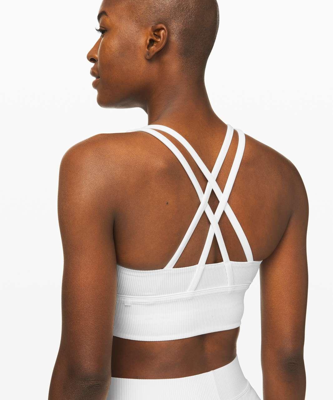 Lululemon Energy Bra *Long Line Texture - White