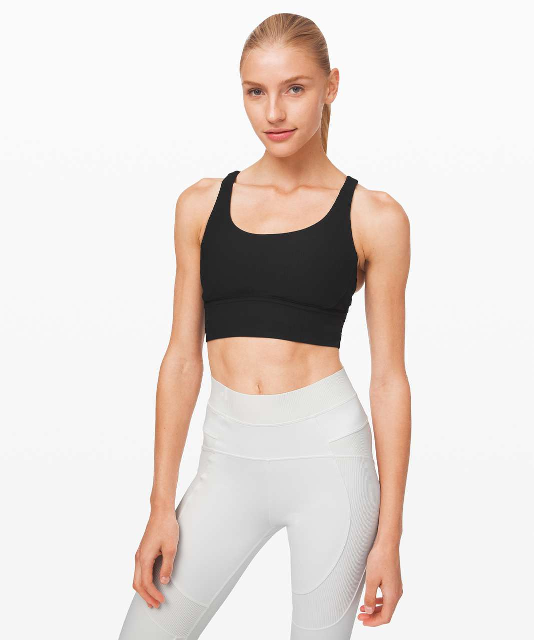 Lululemon Energy Bra *Long Line Texture - Black