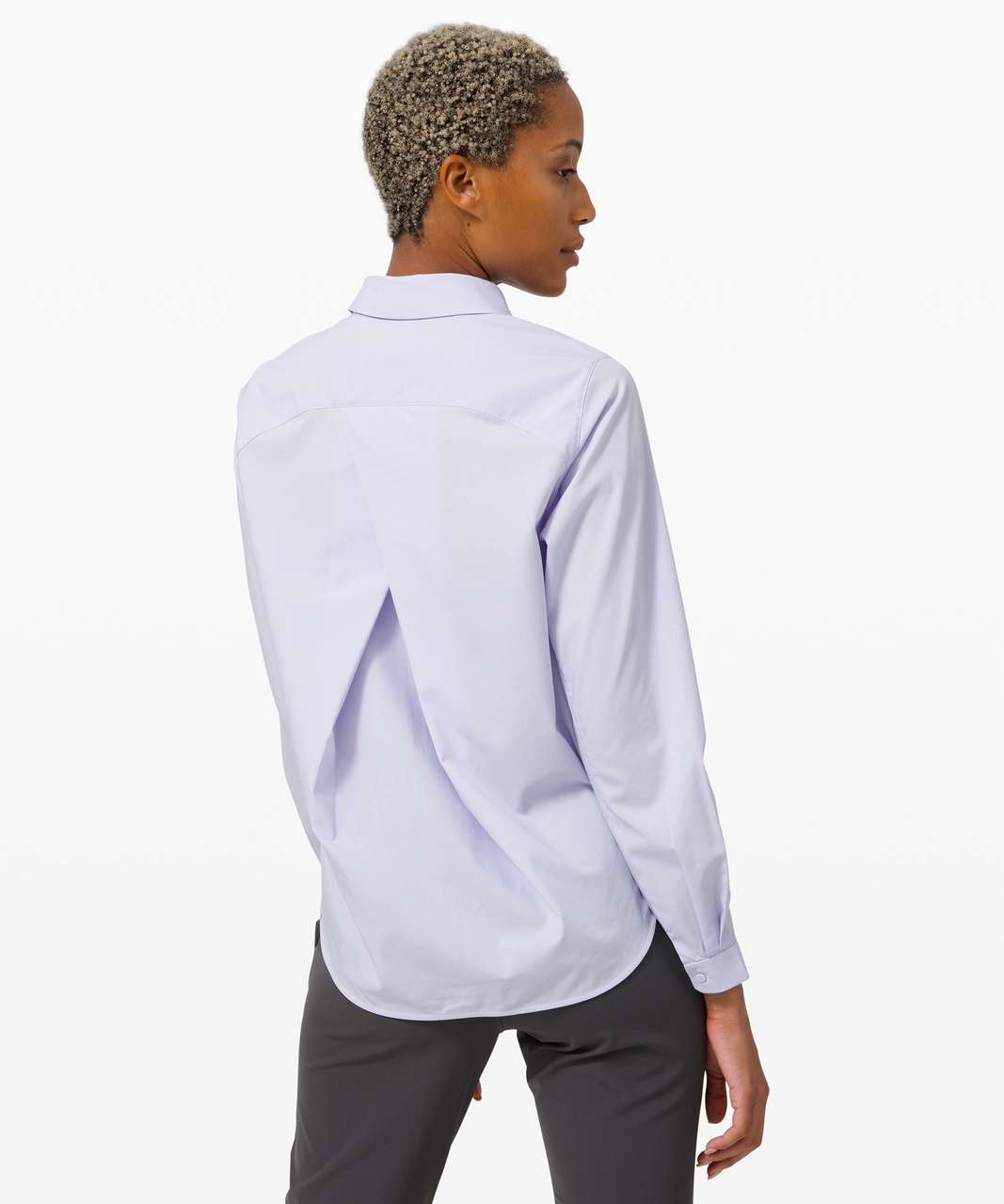 Lululemon Full Day Ahead Shirt - Serene Blue