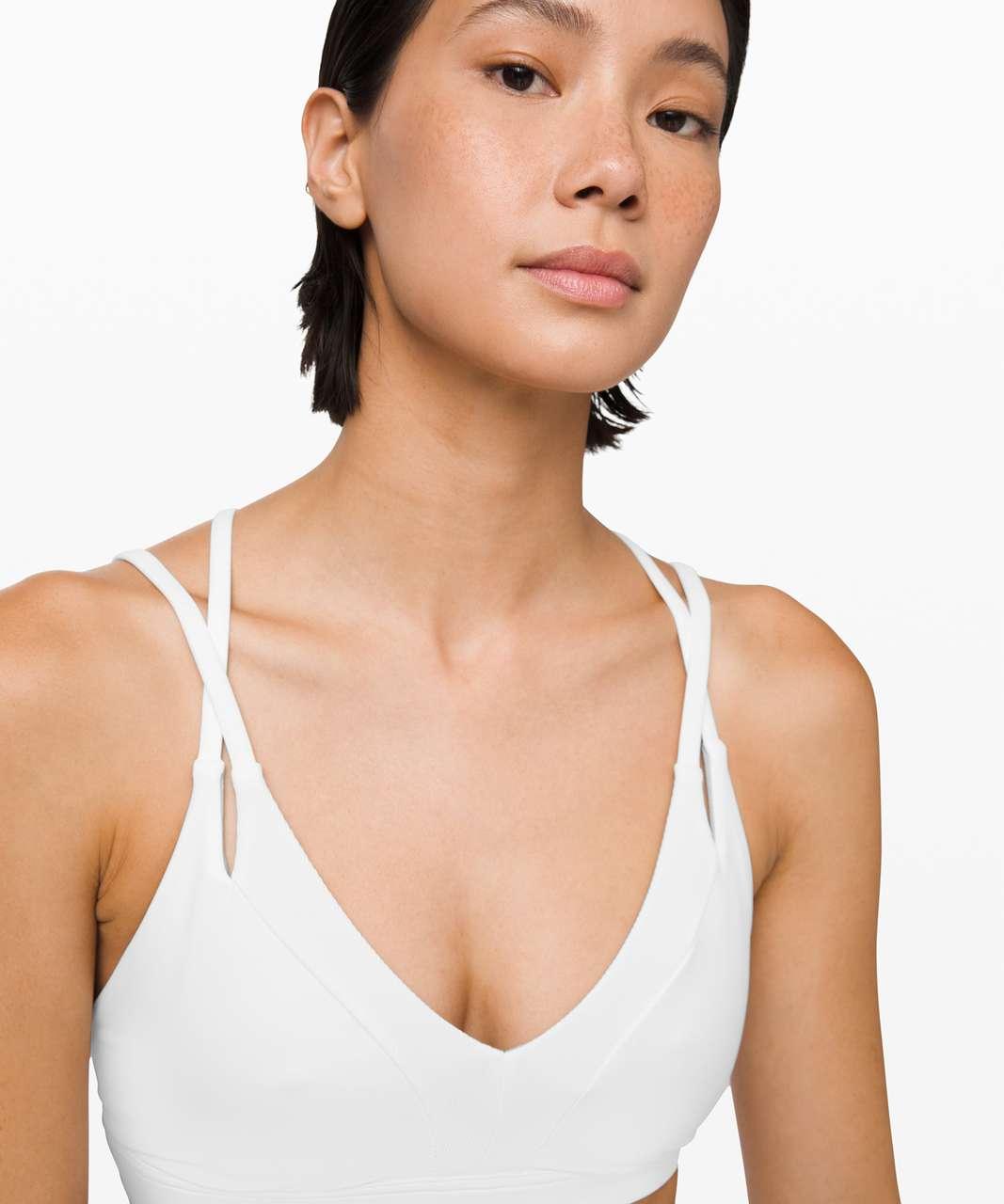 Lululemon New Ambition Bra - White / White