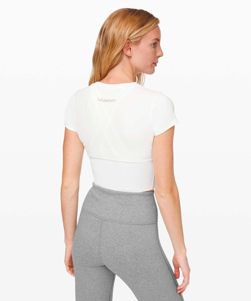 Lululemon New Ambition Cropped Short Sleeve - White