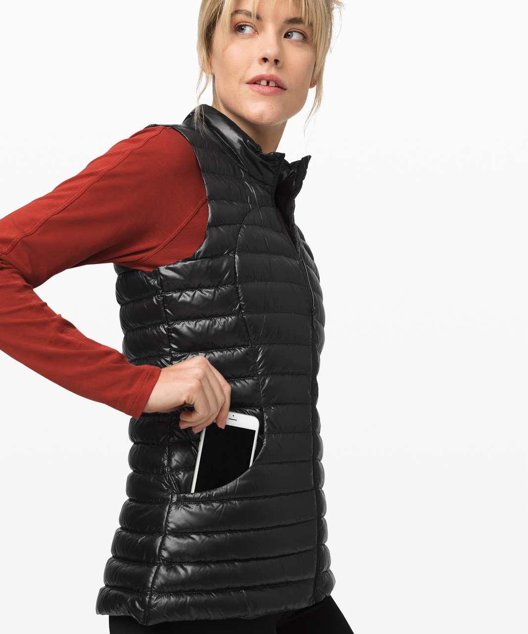 Lululemon Pack It Down Vest *Shine - Black