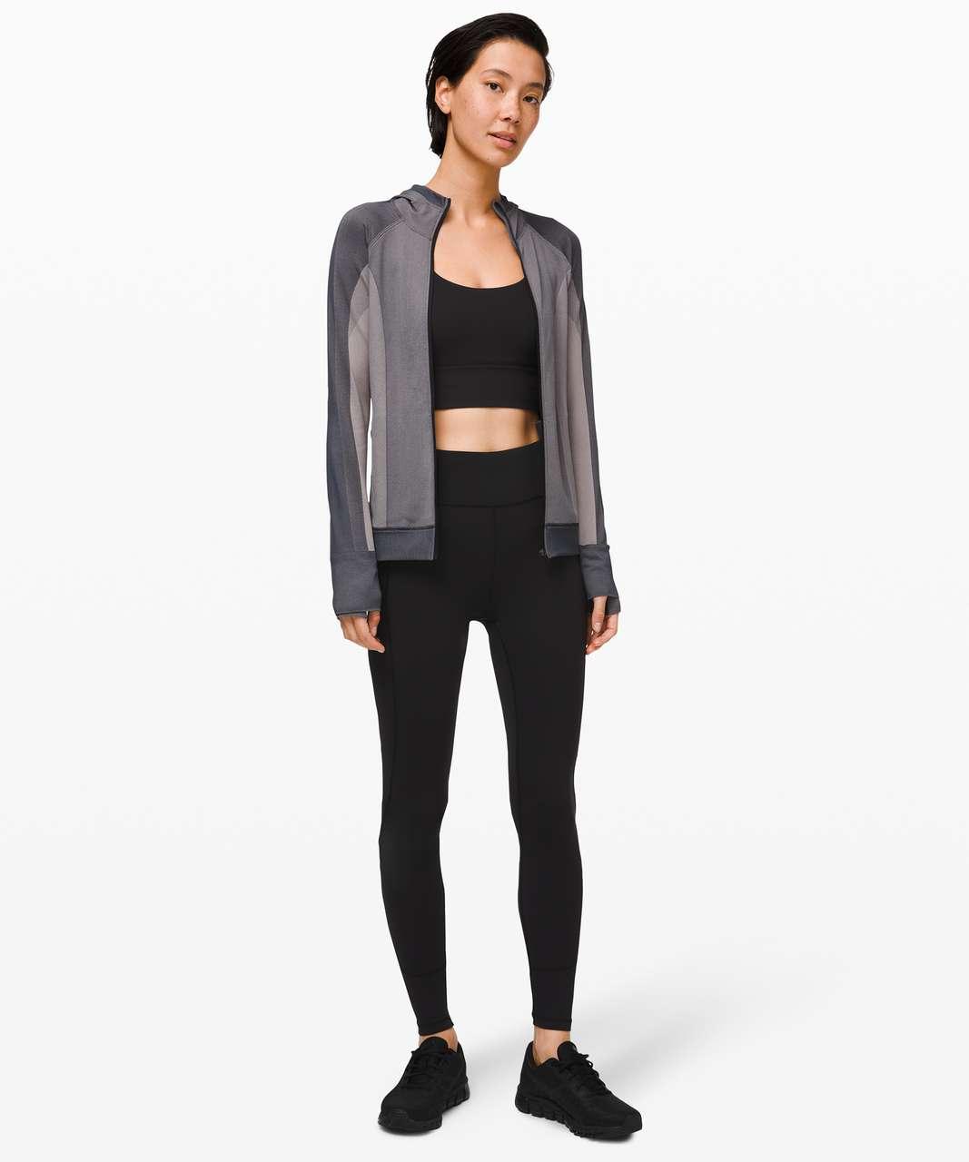 Lululemon Ebb to Train Jacket *Abstract - Black / Dark Chrome