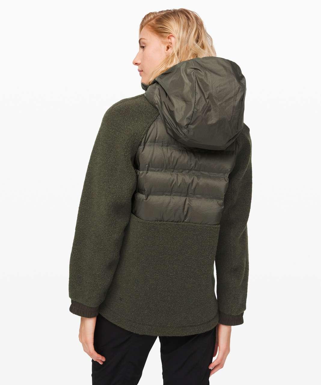Lululemon Go Cozy Insulated Jacket - Heathered Dark Olive / Dark Olive
