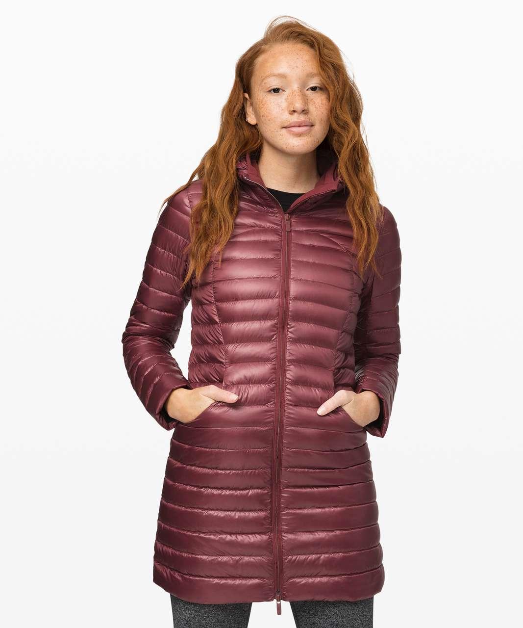 Lululemon Pack It Down Long Jacket *Shine - Chianti