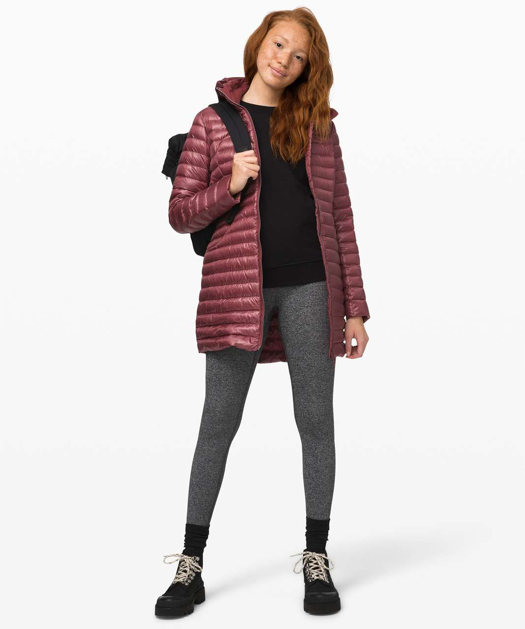 Lululemon Pack It Down Long Jacket *Shine - Chianti