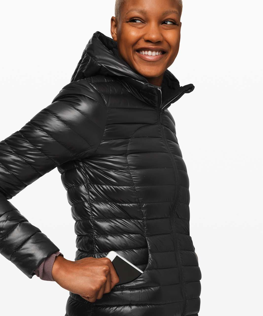 Lululemon Pack It Down Long Jacket *Shine - Black