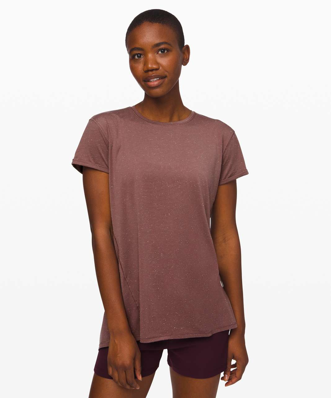 Lululemon Part Ways Tee - Antique Bark / White