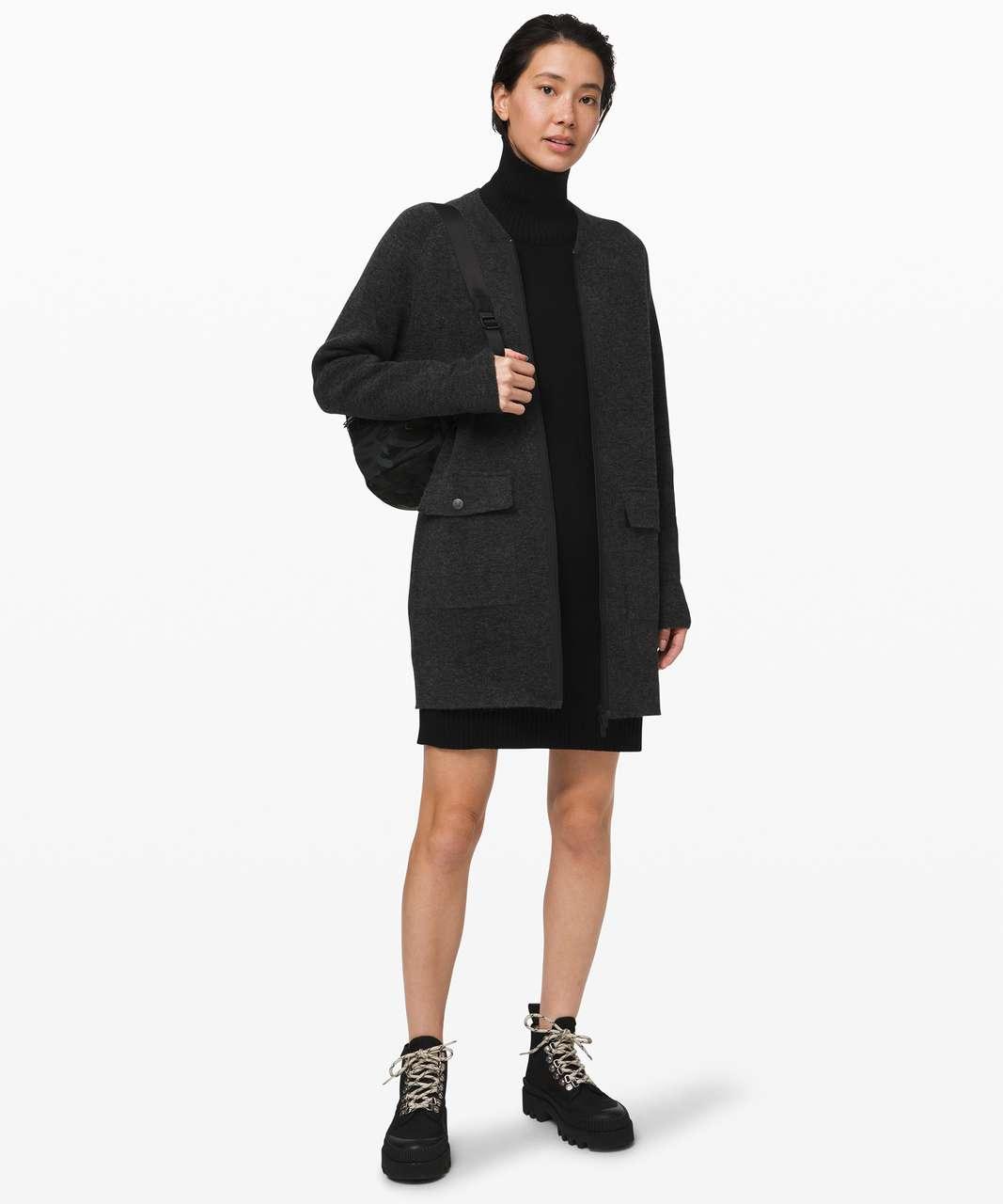 Lululemon Weekend Wander Jacket - Heathered Black / Dark Olive