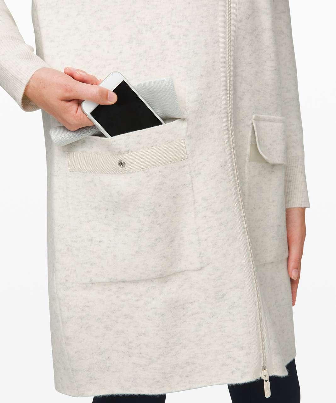 Lululemon Weekend Wander Jacket - Heathered Light Ivory / Silver Ice