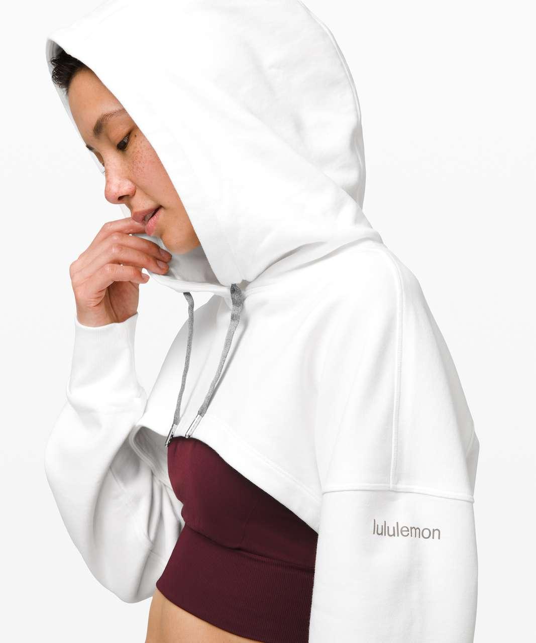 Lululemon New Ambition Cropped Hoodie - White