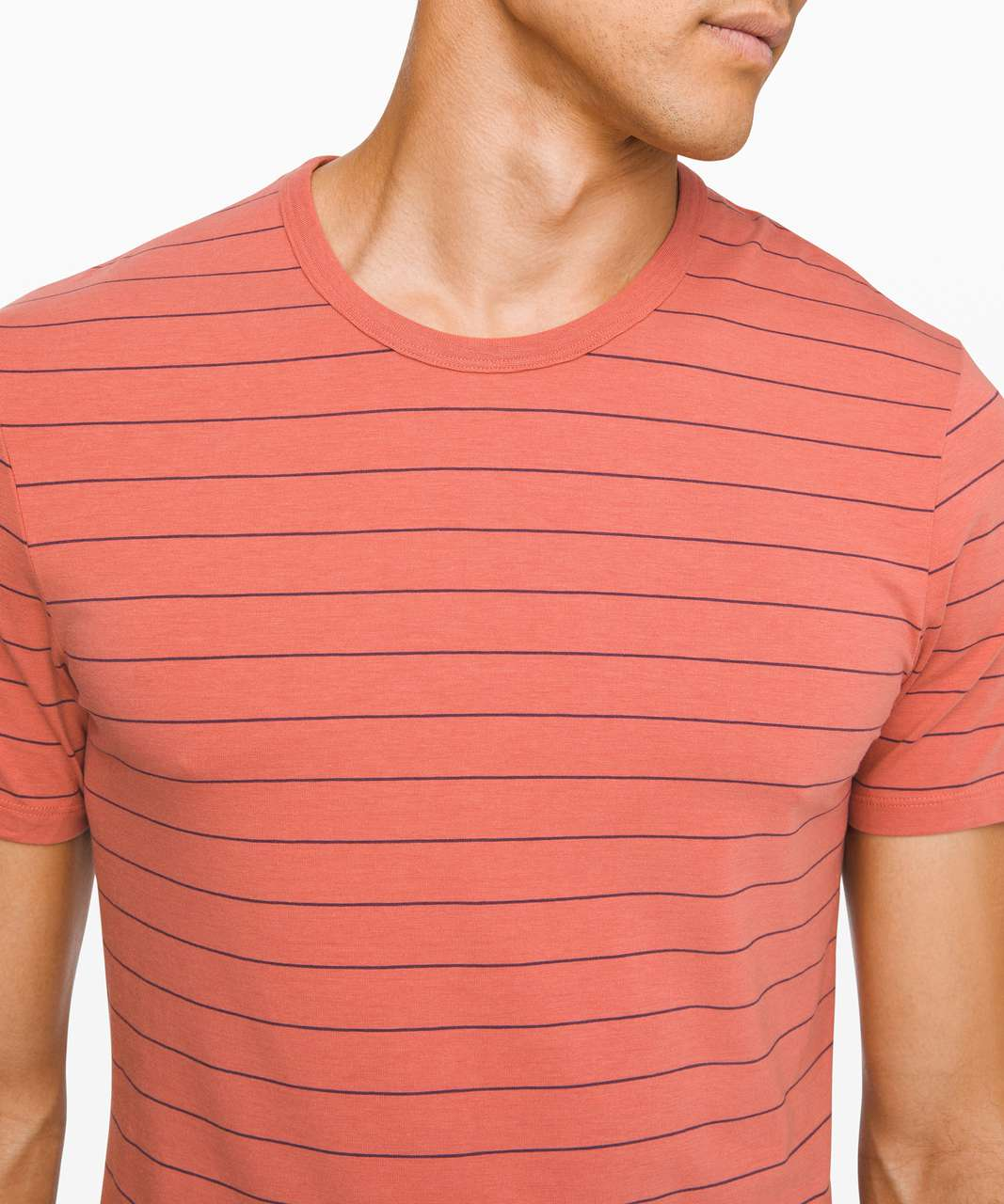 Lululemon 5 Year Basic Tee - Sharp Stripe Copper Clay Arctic Plum