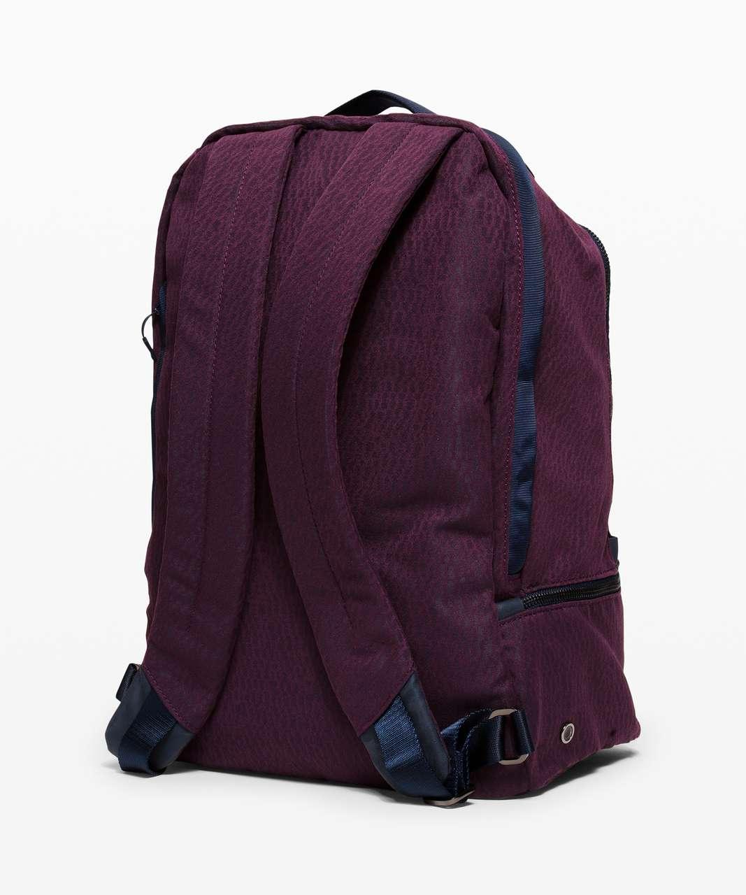 Lululemon City Adventurer Backpack *17L - Stacked Jacquard Black Cherry Nocturnal Teal
