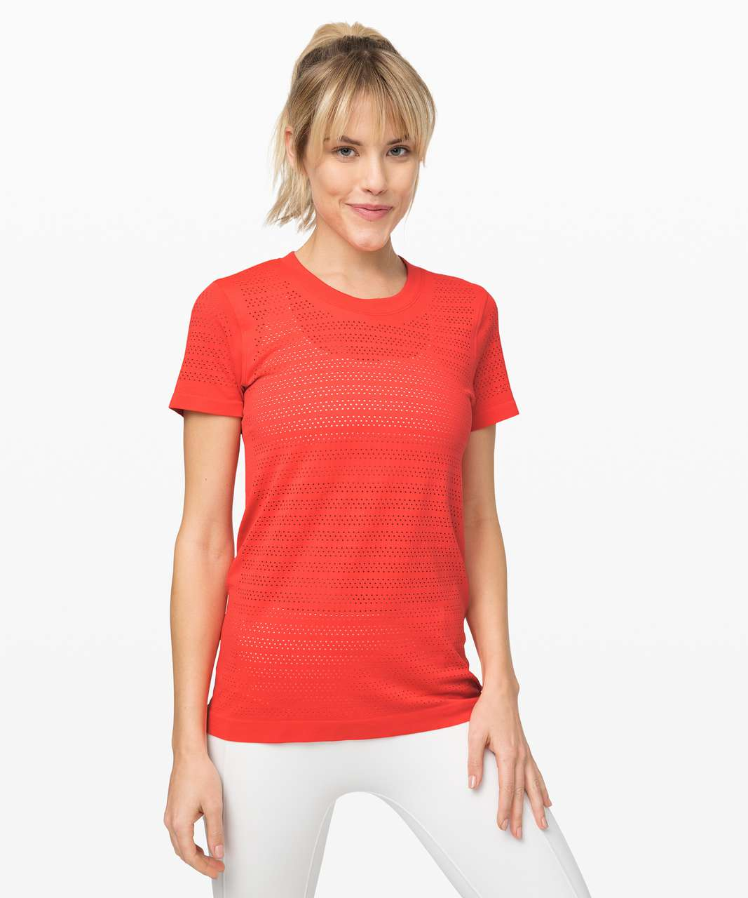 Lululemon Breeze By Short Sleeve *Squad - Thermal Red / Thermal Red