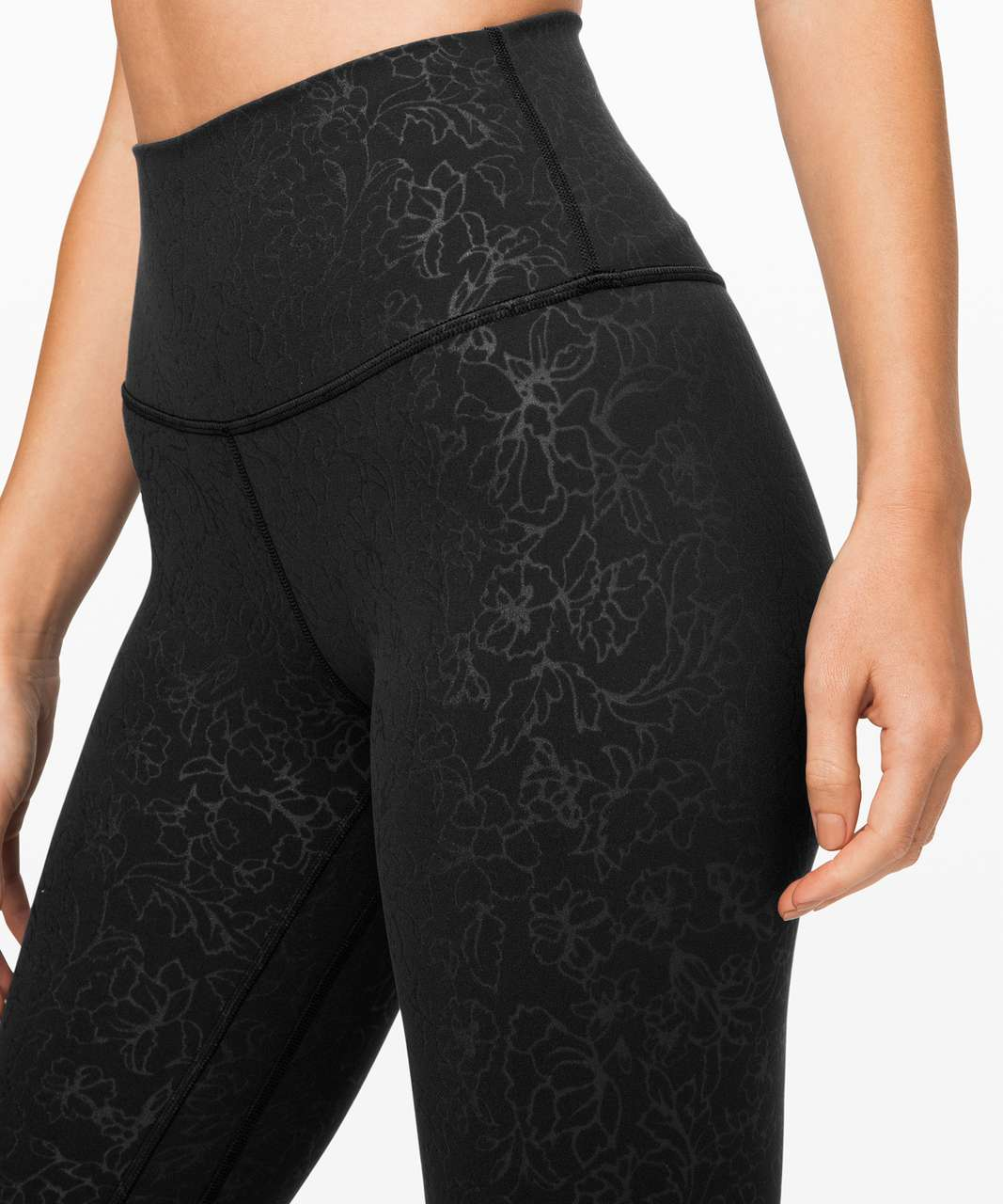 "Lululemon Align Pant II 25"" - Folk Floral Emboss Black Black"
