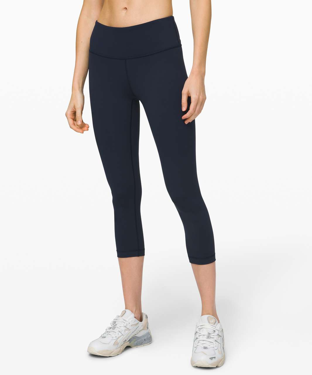 "Lululemon Wunder Under Crop Mid-Rise *Full-On Luxtreme 21"" - True Navy"