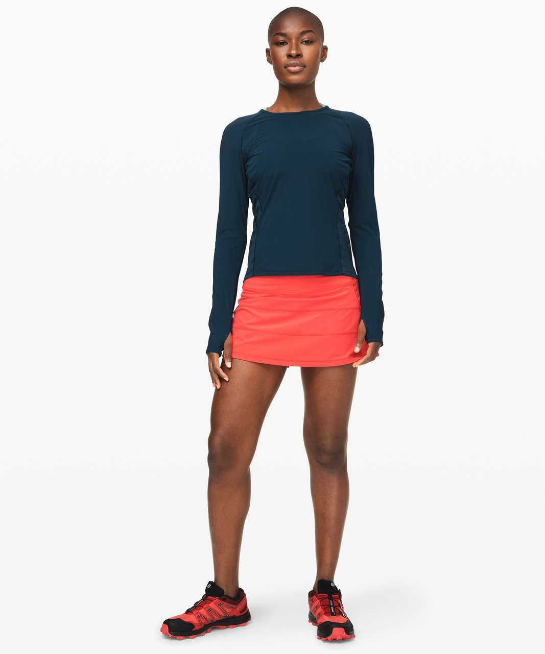 """Lululemon Pace Rival Skirt (Regular) *4-way Stretch 13"""" - Thermal Red"""