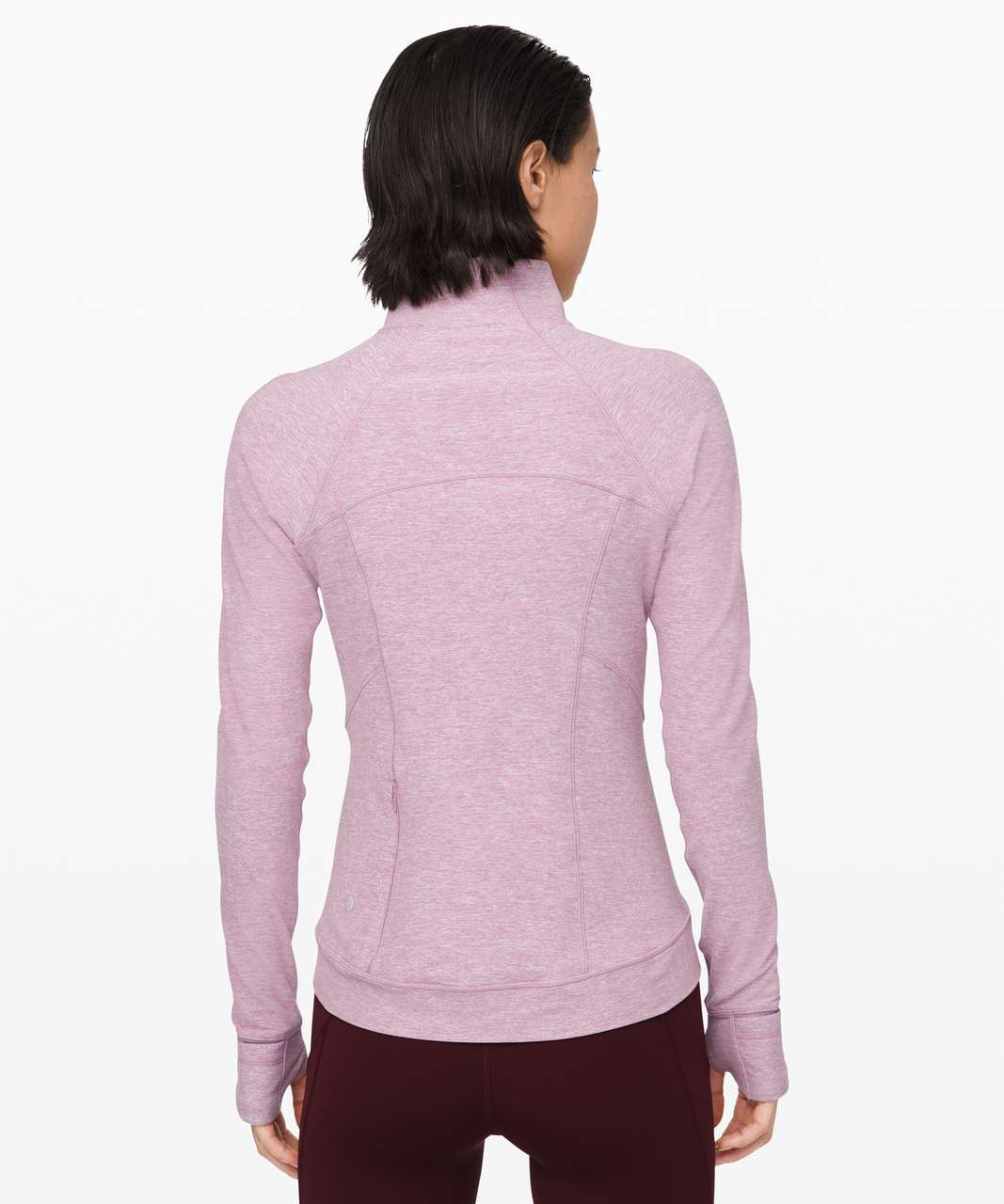 Lululemon Outrun the Elements 1/2 Zip - Heathered Pink Taupe