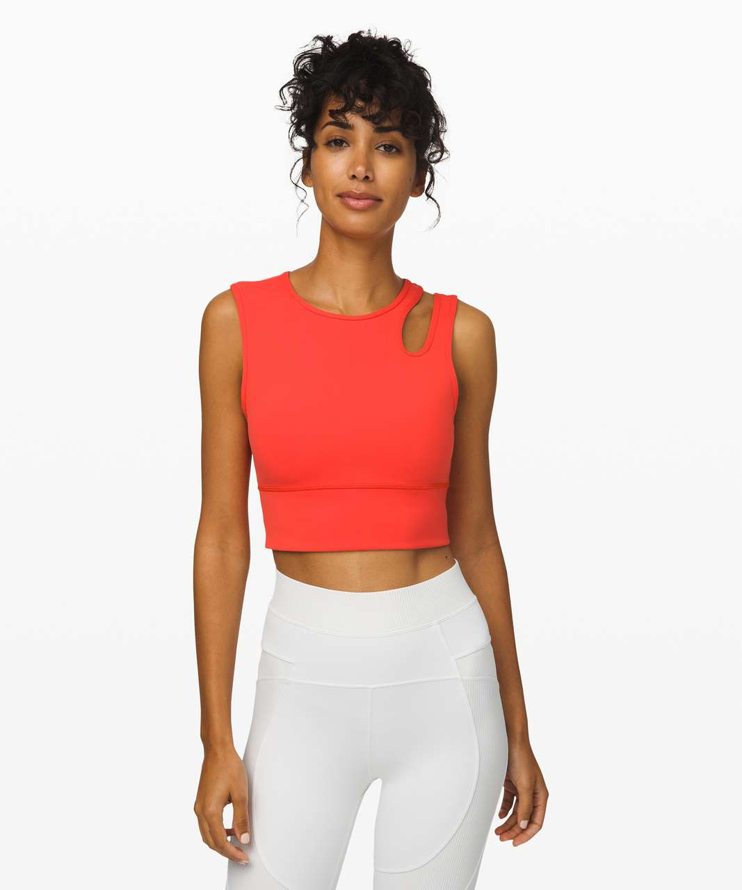 Lululemon Mastered Motion Cropped Tank - Thermal Red