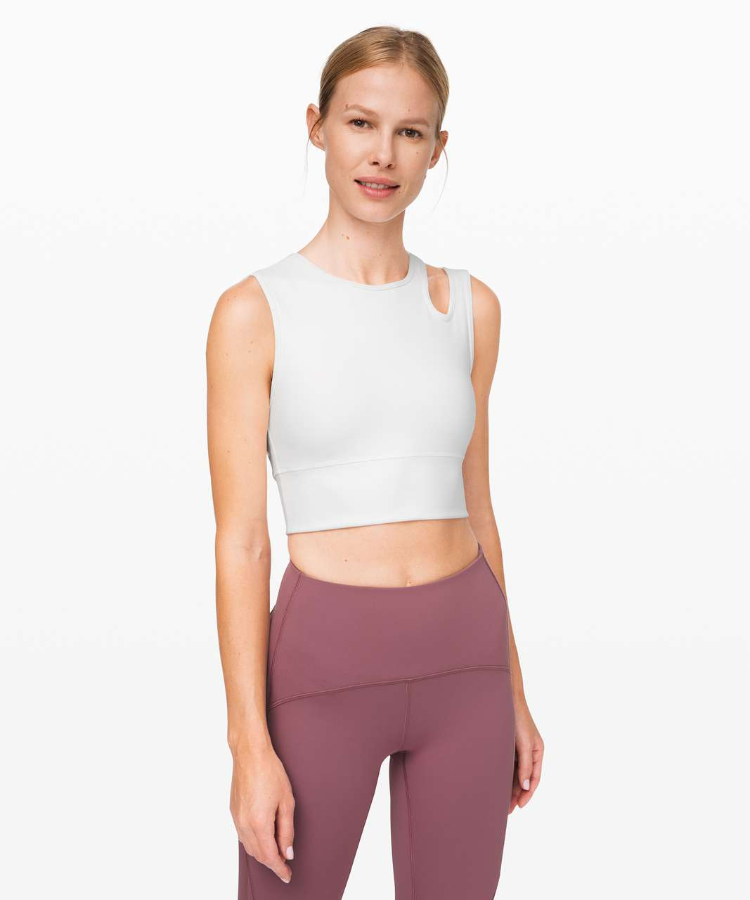 Lululemon Mastered Motion Cropped Tank - White