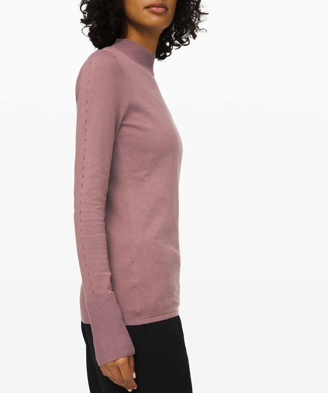 Lululemon Stand Steady Mock Neck Sweater - Misty Mocha