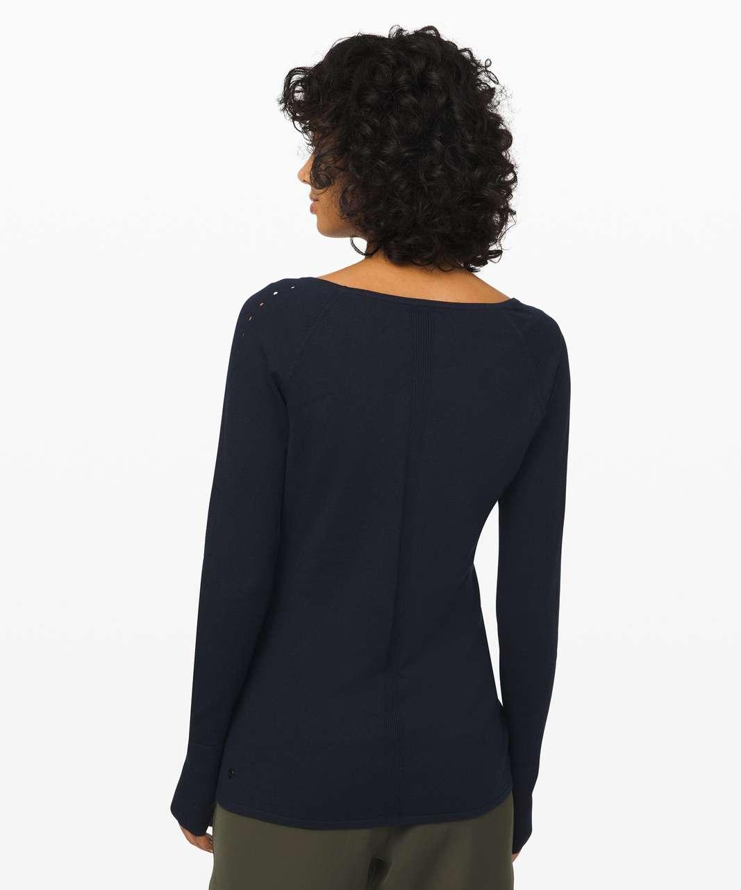 Lululemon Stand Steady V-Neck Sweater - True Navy