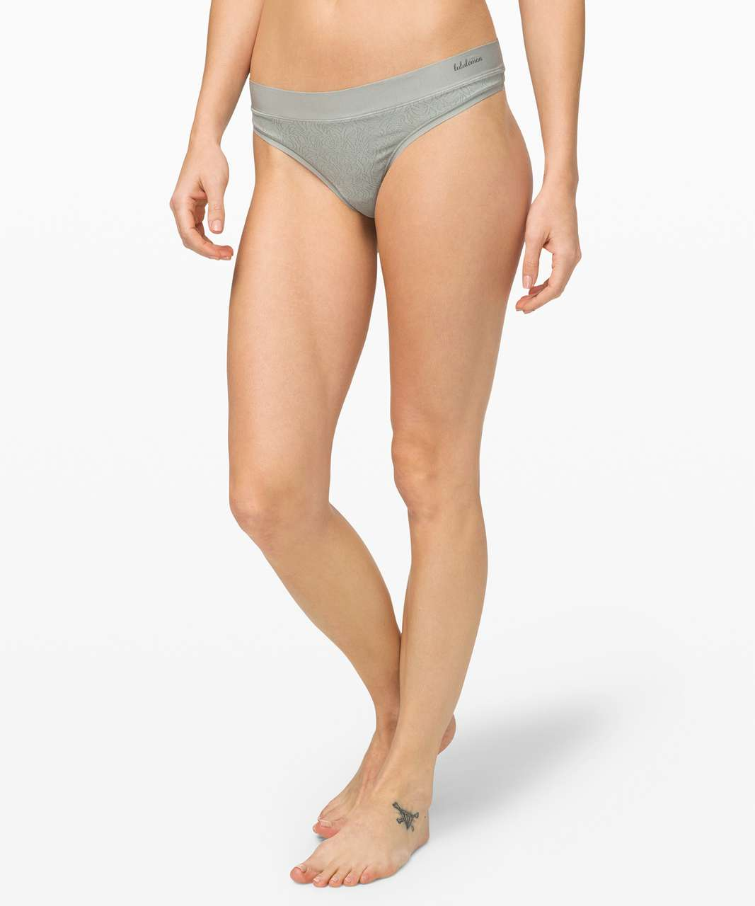 Lululemon Mula Bandhawear Thong *Lace - Jade Grey