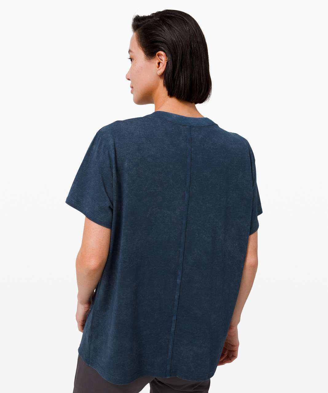 Lululemon All Yours Boyfriend Tee *Cloud Wash - Cloudy Wash True Navy