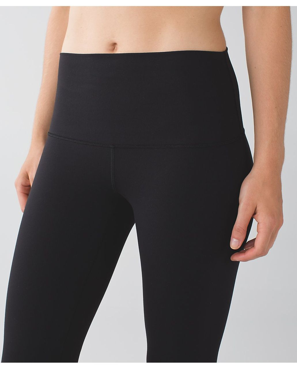 Lululemon Wunder Under Crop II (Roll Down) *Special Edition - Black