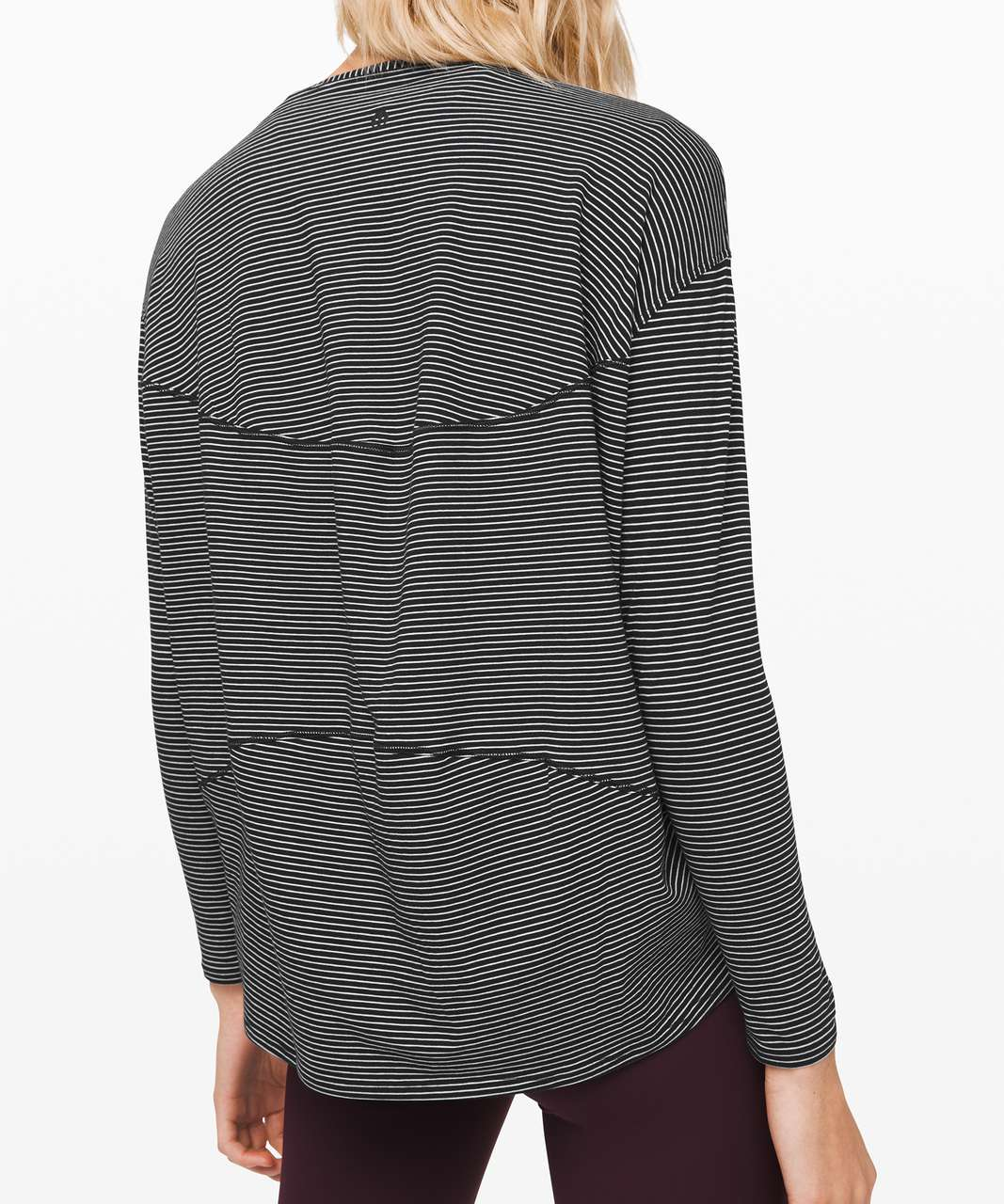 Lululemon Back In Action Long Sleeve - Hype Stripe Black White (First Release)