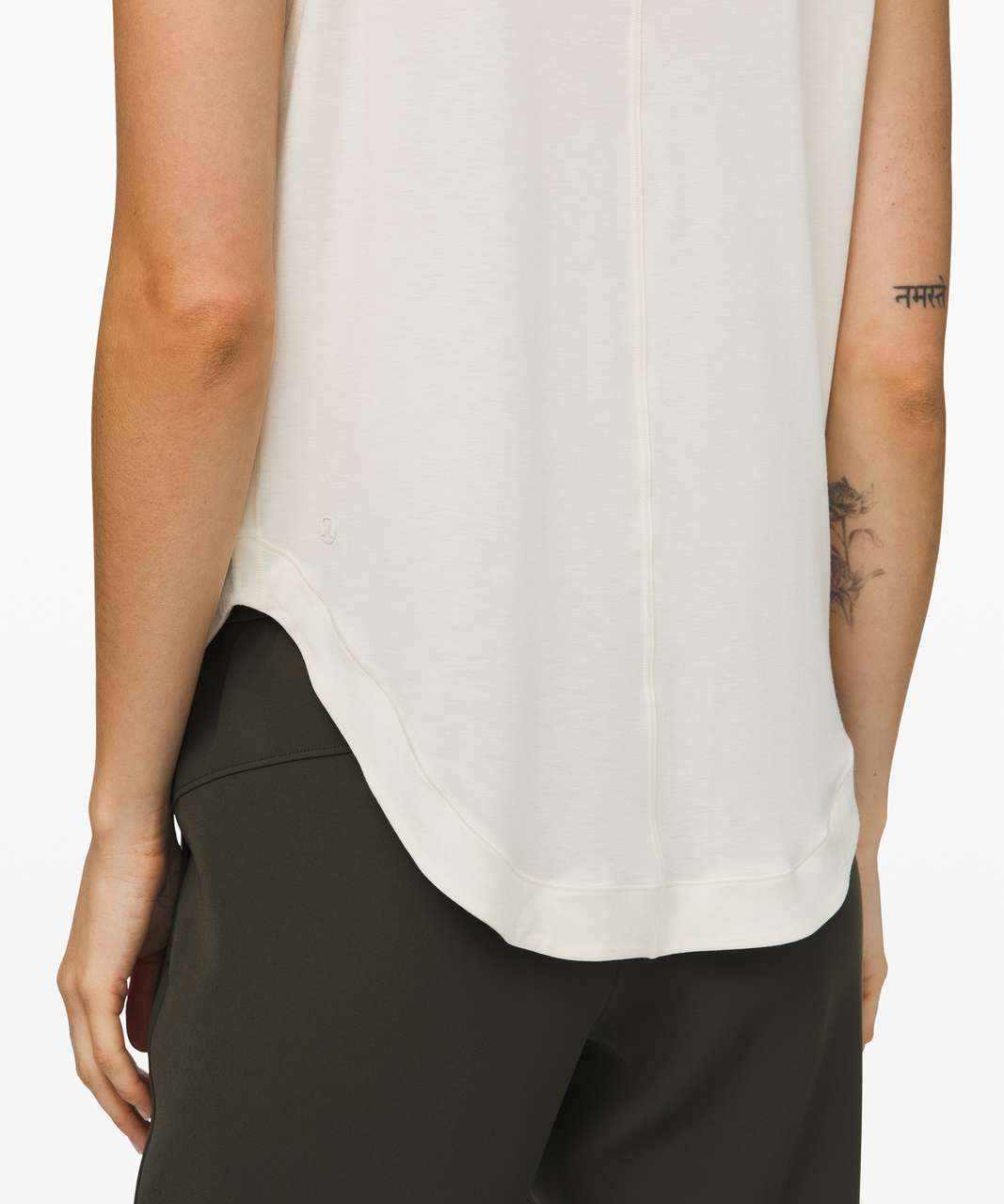 Lululemon Seeking Soft Mock Neck Tank - Heathered Light Ivory