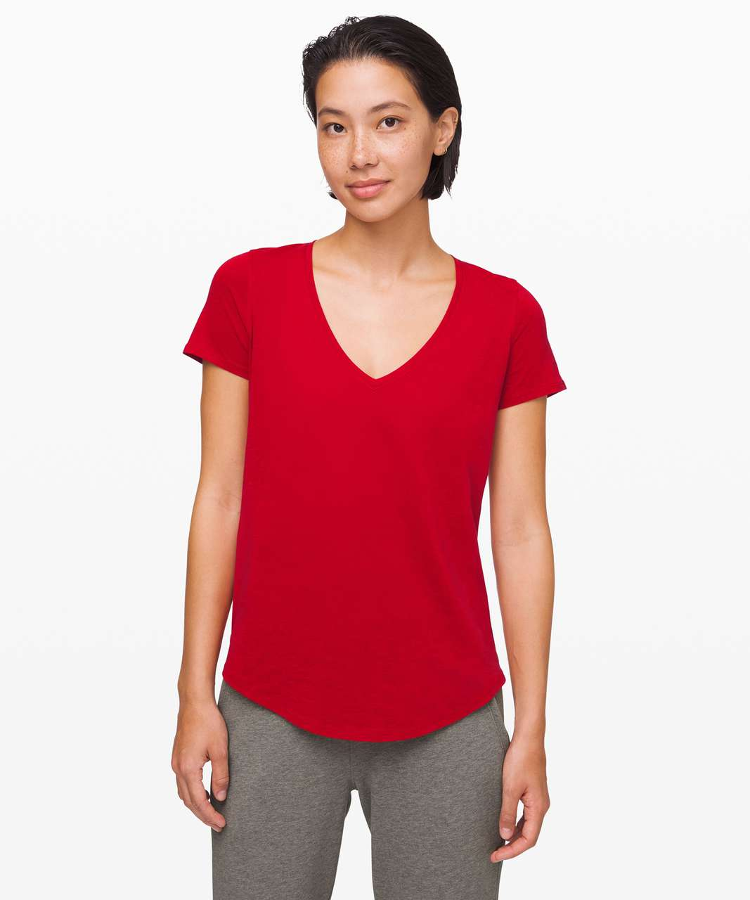Lululemon Love Tee V - Dark Red