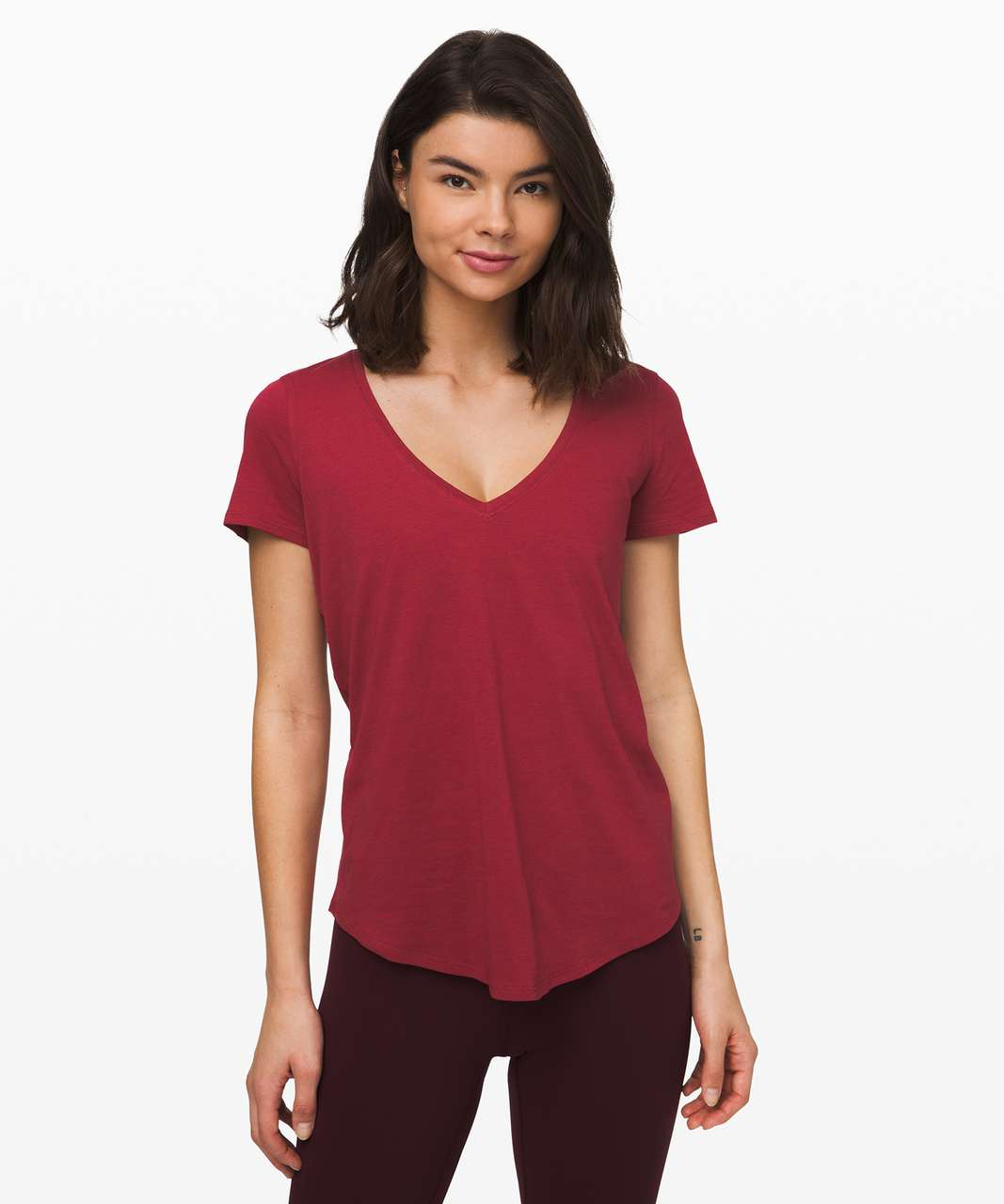 Lululemon Love Tee V - Prep Red