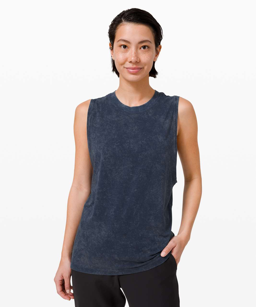 Lululemon All Yours Boyfriend Tank - Cloudy Wash True Navy