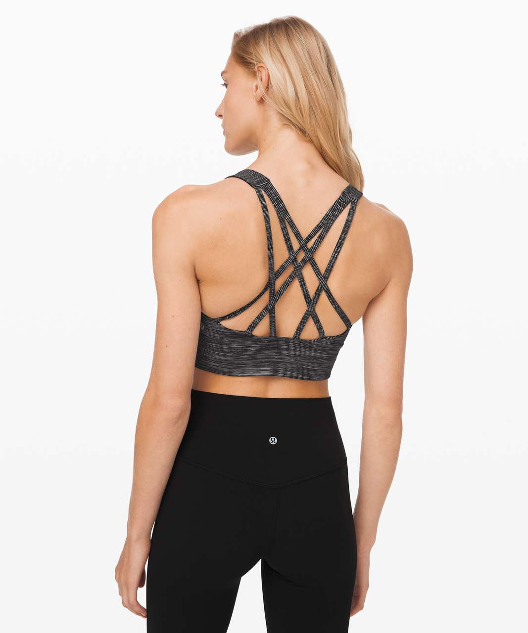 Lululemon Free To Be Serene Bra Long Line *Light Support, C/D Cup (Online Only) - Wee Are From Space Dark Carbon Ice Grey