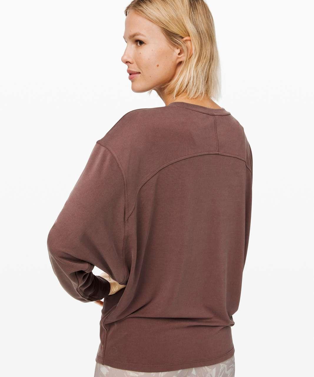 Lululemon Loungeful Drape Long Sleeve *Cupro - Antique Bark
