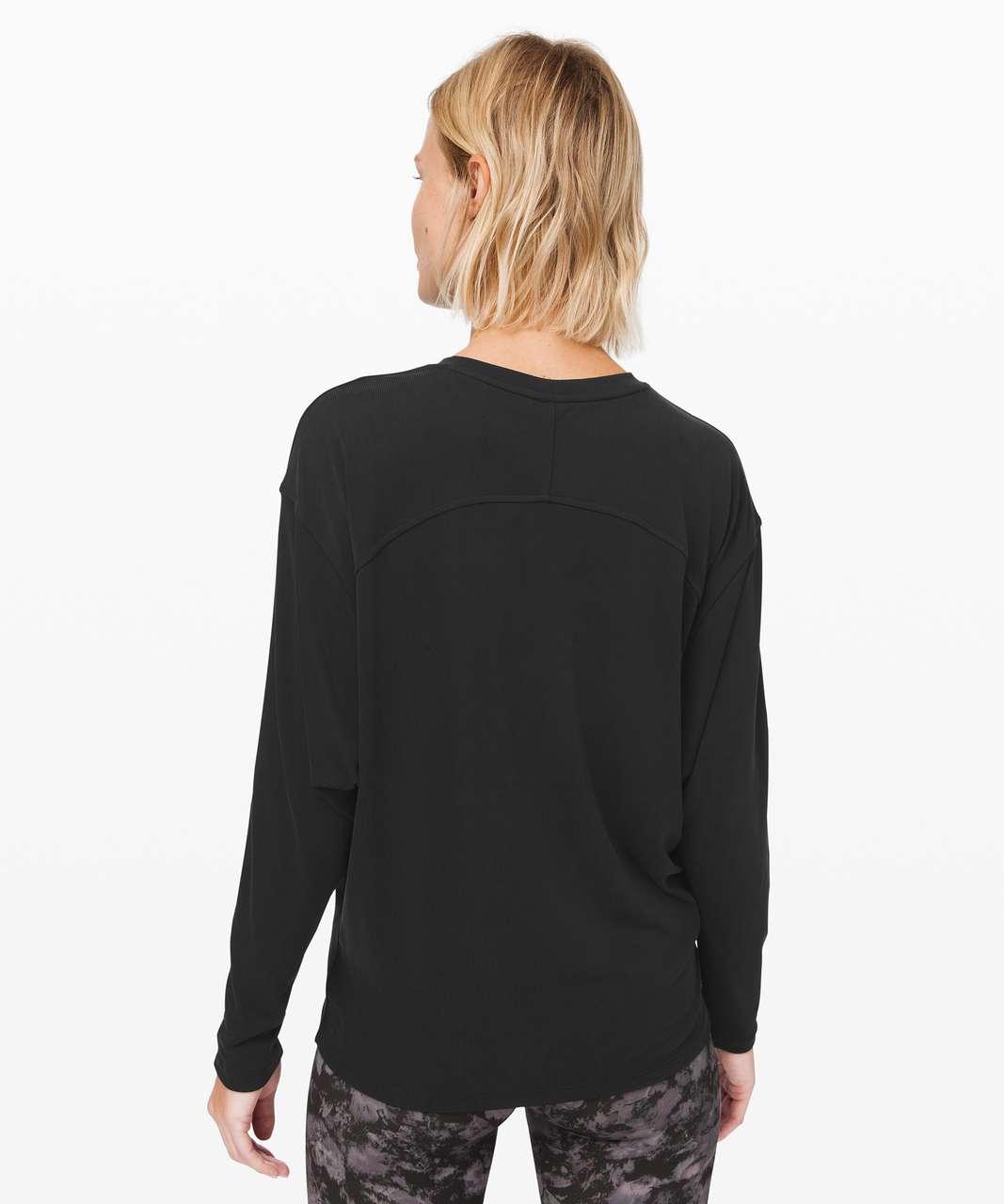 Lululemon Loungeful Drape Long Sleeve *Cupro - Black
